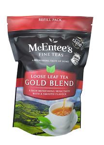 McEntee's IRISH Loose Leaf GOLD BLEND Tea 250g BAG - BLENDED IN IRELAND