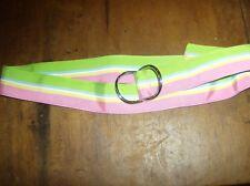 NWOT RALPH LAUREN  Multi-Color Silk Belt-Metal Buckles/ Fully Adjustable Size M