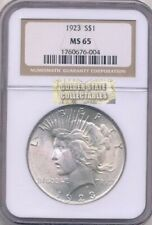 1923 SILVER $1 PEACE DOLLAR NGC MS65 BRILLIANT