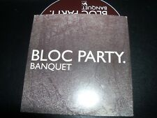 Bloc Party Banquet Card Sleeve Promo CD Single