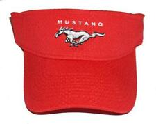 FORD MUSTANG VISOR IN RED  ADULT SIZED SOLD EXCLUSIVELY HERE