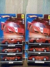 2008 Hot  Wheels Ferrari 250 GTO F40 F430 FXX ENZO 575M 1:43 Mattel New Set of 6