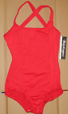 NWT BODY WRAPPERS Ballet Dance Cross Back LEOTARD Scarlet Ladies Small FC600