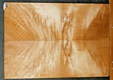 Flame Maple Burl Instrument Wood 9552 Luthier Solid Body Guitar top set
