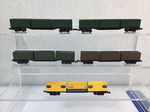Lot Of 5 Lima N Gauge Container Wagons #626