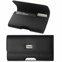 Reiko Cell Phone Leather Card Carrying Slim Pouch Case Cover Belt Clip Holster