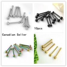 10pcs Nose Stud  ear nail  Bar Body Piercing Stainless Steel body jewelry tiny