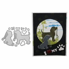 Cute Dog Cutting Dies Stencil DIY Scrapbooking Album Paper Card Craft Embossing