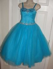 TIFFANY DESIGNS PAGEANT DRESS GIRLS 13226 Princess Bat Mitzvah BLUE 10 tulle