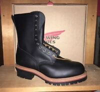 100% AUTHENTIC RED WING 2218 STEEL TOE LOGGER LEATHER WORK BOOTS MADE IN USA