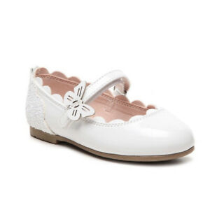 NWT Olive and Edie Baby Toddler Girls White Dressy Dress Shoes Size 6 NIB