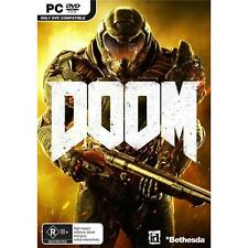 DOOM PC Game Microsoft 2016 Vidio Game PAL New & Sealed