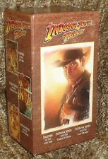 THE INDIANA JONES TRILOGY VHS BOX SET NEW, VERY RARE AND HARD TO FIND, 3 TAPES