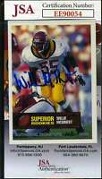 Willie Mcginest 1994 Superior Rookie Jsa Coa Hand Signed Authentic Autograph