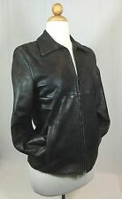 WEEKEND MAX MARA BLACK LEATHER LIGHT JACKET Size 4