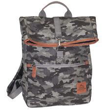 Buxton Men's Expedition Ii Huntington Gear Fold-Over Canvas Backpack Gray Camo