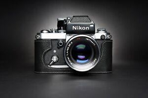 Real Leather Half Camera Case Bag Cover for Nikon F2 F2A F2AS F FA