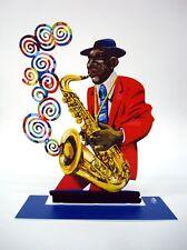David Gerstein Metal Art - Saxophone Player Jazz Club - Metal Modern Sculpture