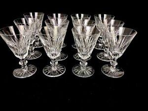 "12 Waterford Ireland Eileen White Wine Glasses Cut Glass Crystal Barware 5"""