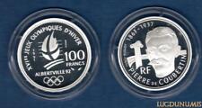 100 Francs BE 1991 ESSAI J.O Albertville Pierre de Coubertin RARE 1850 Ex