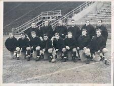 1939 Yale Bulldogs Football Team in Cambridge for Harvard Game Press Photo