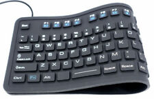 Waterproof Flexible Silicone USB Full Size Keyboard MFR109L IP67 certified
