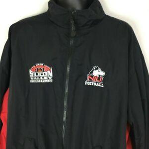 Northern Illinois Huskies Football Jacket 3XL Black Red 2004 Classic Tournament