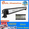 """32""""inch 180W CREE LED Work Light Bar Combo Fits Off road Truck Boat Jeep Driving"""