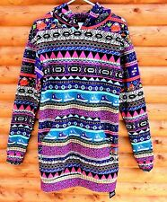 BlackMilk Bel Air Slouchy Hoodie Size XS UK 8 New With Tags Neon Aztec