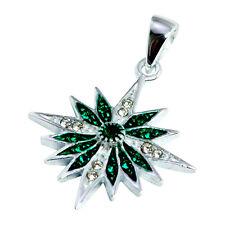 Pendant of Silver 925 zircons, blessd star of Bethlehem cross from Jerusalem