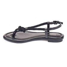 Michael Kors Shoes MK 40T5HOFA1L Holly Leather Sandal Black 7M Agsbeagle COD