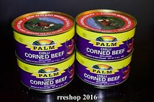 PALM CHILLI CORNED BEEF WITH JUICES 11.5 oz/326g Product of New Zealand LOT OF 4