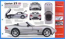Caterham 21 UK 1998 Spec Sheet Brochure Poster IMP Hot Cars Group 1 #61