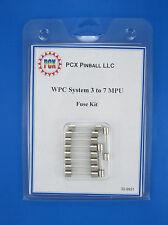 1979 Williams Time Warp Pinball Machine Fuse Kit - System 6 (10 fuses)