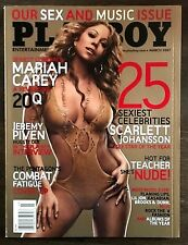 RARE USA Collectable March 2007 Playboy Magazine Mariah Carey Music Issue