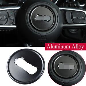 Alloy Black Steering Wheel Ring Trim Kit For Jeep Wrangler JL JT Gladiator 2018+