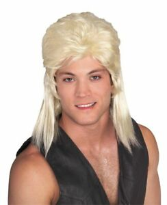 Rubies Blonde Mullet 80s Hillbilly Wig Adult Halloween Costume Accessory 51165