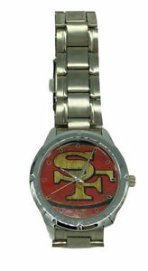 San Francisco 49ers NFL Men's Silver Tone Sports Watch Football Untested