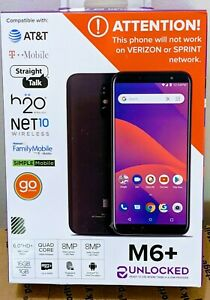 BLU M6 + Android Smartphone | UNLOCKED For All GSM Carriers Prepaid | Brand New