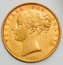 More details for nice 1850 queen victoria gold shield sovereign - listed as rare in marsh