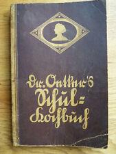 Antikes Historisches Schulkochbuch - Dr. Oetker - ca.1925 - Schulbuch - selten