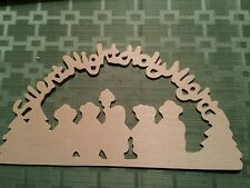 Christmas Wood Cutout - Silent Night Holy Night arch with carollers to paint