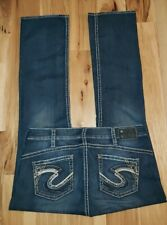 Silver Tuesday 16 1/2 Baby Boot Cut Jeans Plus Sz 16x33 BLING! FREE GIFT!
