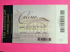 Celine Dion Caesars Colosseum Vegas Original Concert Used Ticket June 16 2013