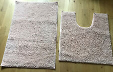 New Pale Pink Bathroom Mat Set - Wilko
