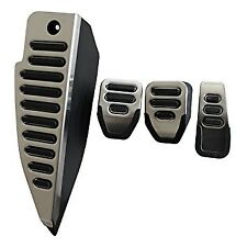 NEW AUDI A4 B6 B7 STAINLESS STEEL PEDAL FOOTREST COVERS SET FOR MANUAL GEARBOX