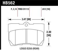 Hawk for Lexus 06-07 GS300/ 06-08 IS250 HPS Street Rear Brake Pads - hawkHB562F.