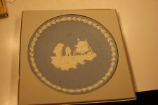 Wedgwood Blue Jasperware Apollo 11 Man on the Moon 1969 Commemorative Plate 8""