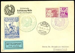 EDW1949SELL : AUSTRIA Nice 1936 Post Card with Matching Label