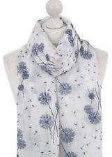 Women Dandelion Scarf Ladies Soft White Dandelions Scarves Flower Spring Wrap UK